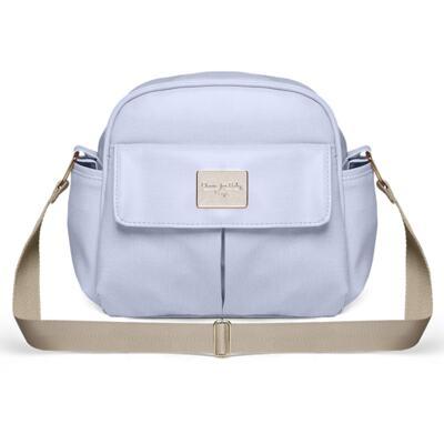 Imagem 4 do produto Mala Maternidade para bebe + Bolsa Marselle + Frasqueira Térmica Toulousse + Necessaire + Trocador Nácar Azul  - Classic for Baby Bags