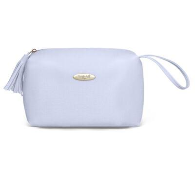 Imagem 5 do produto Mala Maternidade para bebe + Bolsa Marselle + Frasqueira Térmica Toulousse + Necessaire + Trocador Nácar Azul  - Classic for Baby Bags