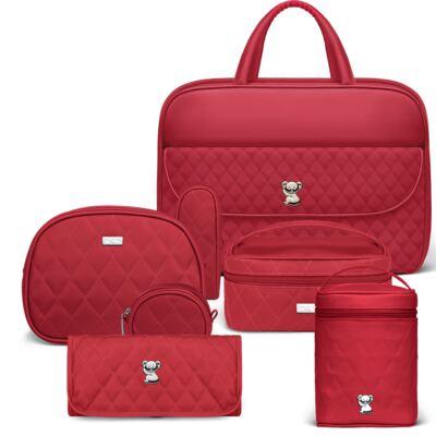 Imagem 1 do produto Mala Maternidade  + Kit Acessórios + Trocador Portátil + Frasqueira Térmica Firenze + Mini Bolsa para bebe Colors Cherry - Classic for Baby Bags