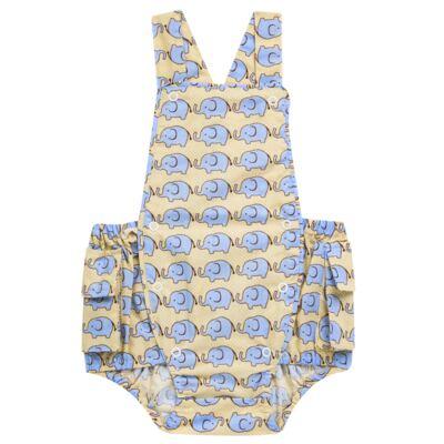 Imagem 1 do produto Jardineira para bebe em tricoline Little Elephant - Roana - JB000883005 JARDINEIRA BABY 4320 BEGE-P