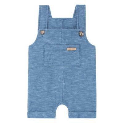 Imagem 1 do produto Jardineira para bebe em fleece Jeans Azul - Time Kids - TK5116.AZ JARDINEIRA JEANS AZUL-G
