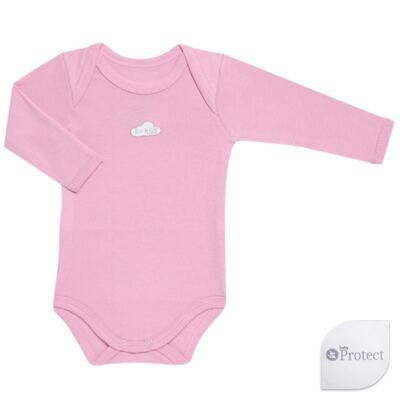 Imagem 1 do produto Body longo para bebe em suedine Baby Protect Rosa - Mini & Kids - BDTL1734 BODY M/L TRANSP. SUEDINE ROSA-P