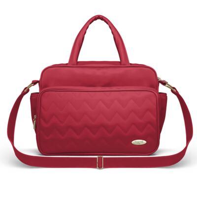 Imagem 2 do produto Bolsa maternidade para bebe Turin + Frasqueira Térmica Trento Chevron Rubi - Classic for Baby Bags