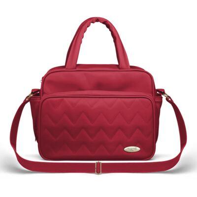 Imagem 3 do produto Bolsa maternidade para bebe Turin + Frasqueira Térmica Trento Chevron Rubi - Classic for Baby Bags