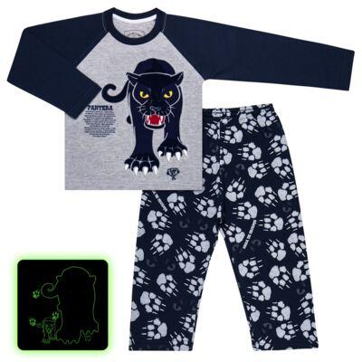 Imagem 1 do produto Pijama longo que Brilha no Escuro Panther - Cara de Criança - L2289 PANTERA L PJ LONGO M/MALHA -3