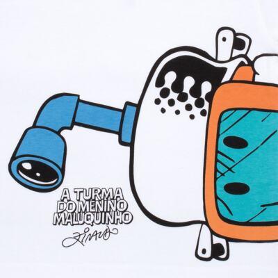 Imagem 3 do produto Conjunto de Banho Maluquinho Mergulhador: Camiseta + Sunga - Cara de Criança - KIT1-1308: SB1308 SUNGA + CCA1308 CAMISETA PIRATA MALUQUINHO-3