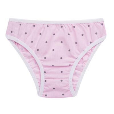 Imagem 4 do produto Kit com 3 Calcinhas Pink Polka Dots - Cara de Criança - KC2403 KIT POA KC3 KIT CALCINHAS 3 PCS M/MALHA-P