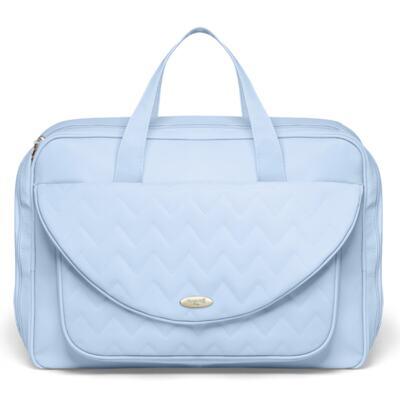 Imagem 2 do produto Mala Maternidade para bebe + Bolsa Turin + Frasqueira Térmica Trento Chevron Topázio - Classic for Baby Bags