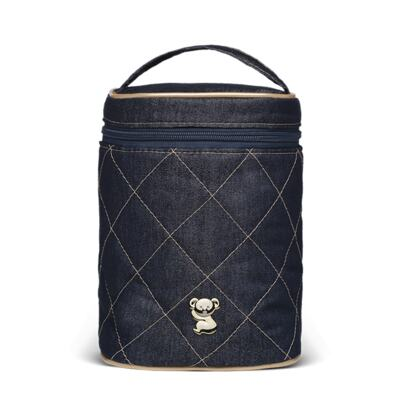 Imagem 4 do produto Mala Maternidade para bebe + Bolsa Cannes + Frasqueira Térmica Firenze + Kit Acessórios + Trocador Portátil Golden Denim - Classic for Baby Bags