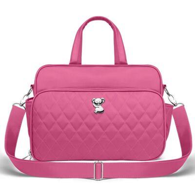 Imagem 3 do produto Kit Mala maternidade para bebe + Bolsa Viagem + Frasqueira Térmica + Necessaire Colors Pink - Classic for Baby Bags