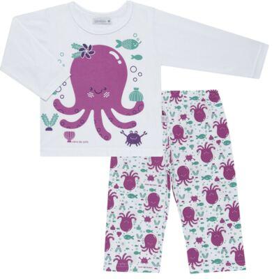 Imagem 1 do produto Pijama longo em malha Polvinha - Cara de Sono - L1994 POLVA L PJ-LONGO M/MALHA -1