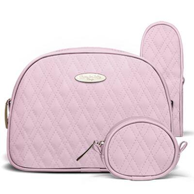 Imagem 4 do produto Bolsa maternidade para bebe Mônaco + Frasqueira Térmica Nice + Kit Acessórios Golden Koala Rosa- Classic for Baby Bags