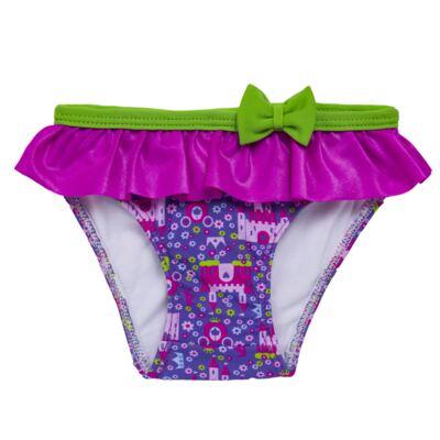 Imagem 4 do produto Conjunto de Banho para bebe Castellana: Roupão + Biquíni - Cara de Criança - KIT 2 2581: BB2581+ROB2581 BIQUINI E ROUPÃO BB CASTELO-G
