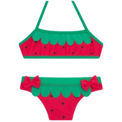 Imagem 4 do produto Conjunto de Banho Strawberry: Camiseta + Biquíni - Cara de Criança - KIT2-1253: B1253 BIQUINI + CCA1253 CAMISETA MORANGUINHO-3