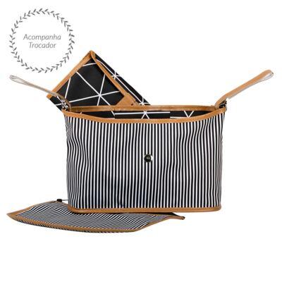 Imagem 4 do produto Mala maternidade Vintage + Bolsa Everyday + Frasqueira Organizadora Manhattan Rosa - Masterbag