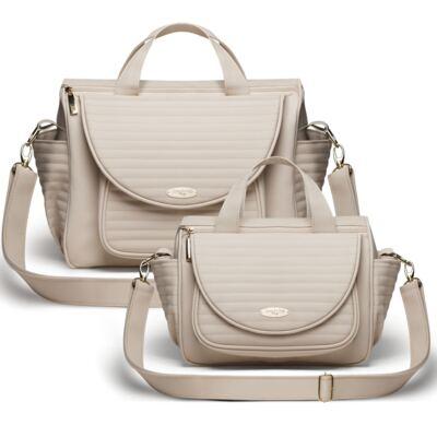 Imagem 1 do produto Kit Bolsa maternidade para bebe Renan + Bolsa Estoril Golden Marfim - Classic for Baby Bags