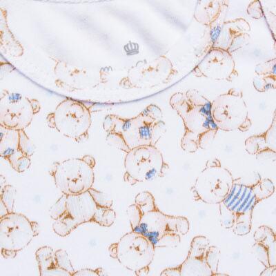 Imagem 2 do produto Body regata para bebe em algodão egípcio c/ jato de cerâmica Prince Bear - Mini & Classic - BDR656 BODY REGATA SUEDINE URSO-P