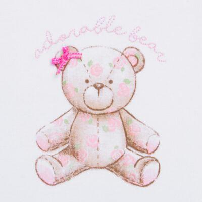 Imagem 2 do produto Body Vestido para bebe em algodão egípcio com jato de cerâmica Princess Bear - Mini & Classic - 0407655 BODY VESTIDO REG SUEDINE URSA -M