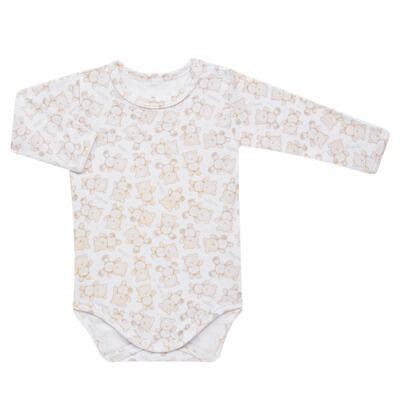 Imagem 2 do produto Pack: 02 Bodies longos para bebe em algodão egípcio c/ jato de cerâmica Nature Little Friends - Mini & Classic - 1023650 PACK 2 BODIES ML SUEDINE NATURE -M