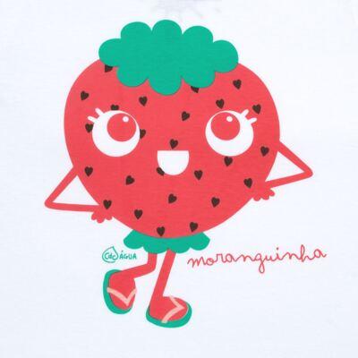 Imagem 3 do produto Conjunto de Banho Strawberry: Camiseta + Biquíni - Cara de Criança - KIT2-1253: B1253 BIQUINI + CCA1253 CAMISETA MORANGUINHO-1