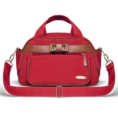 Imagem 3 do produto Kit Mala Maternidade para bebe + Bolsa Viagem Oxford + Frasqueira Térmica Kent Laço Caramel Vermelho - Classic for Baby Bags