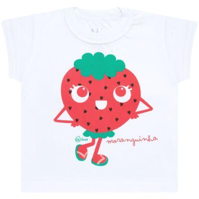 Imagem 2 do produto Conjunto de Banho Strawberry: Camiseta + Biquíni - Cara de Criança - KIT2-1253: B1253 BIQUINI + CCA1253 CAMISETA MORANGUINHO-6