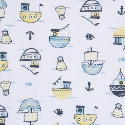 Imagem 2 do produto Body regata para bebe em algodão egípcio c/ jato de cerâmica Summer Boats - Mini & Classic - BDR666 BODY REGATA SUEDINE SUMMER-G