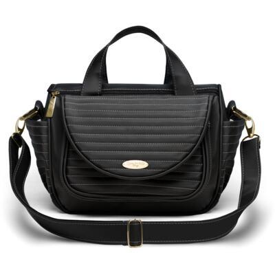 Imagem 2 do produto Bolsa Térmica para bebe Estoril + Kit Acessórios Golden Preto - Classic for Baby Bags