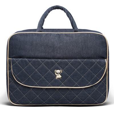 Imagem 2 do produto Mala Maternidade para bebe + Bolsa Cannes + Frasqueira Térmica Firenze Golden Denim - Classic for Baby Bags