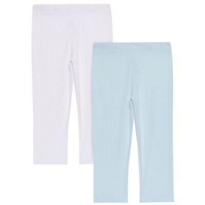 Imagem 1 do produto Pack 2 Mijões para bebe Sleep Comfort Azul/Branco - Vicky Lipe - 10180001.31 PACK 2 MIJOES SEM PÉ - SUEDINE-P