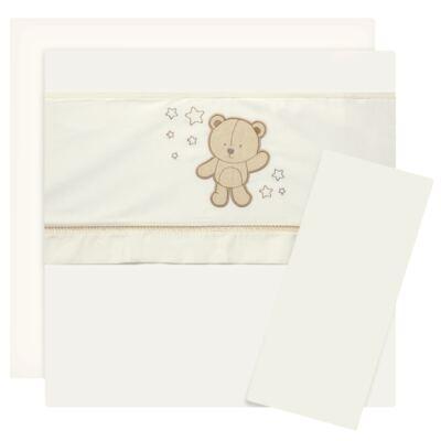 Imagem 1 do produto Jogo de lençol para carrinho em malha Nature Cute Bear - Classic for Baby - JLU0013.N2 JOGO DE LENÇOL DE CARRINHO - FUSTÃO/MALHA NATURE 2