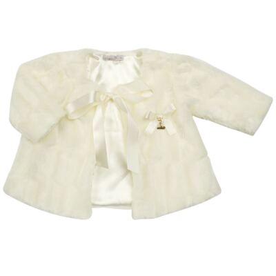 Imagem 1 do produto Casaco de pele para bebe Marfim - Roana - 06032006031 Casaco de Pele Marfim-P