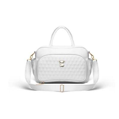 Imagem 2 do produto Kit Bolsa maternidade para bebe Veneza + Frasqueira Térmica Milão Golden Koala Branco - Classic for Baby Bags