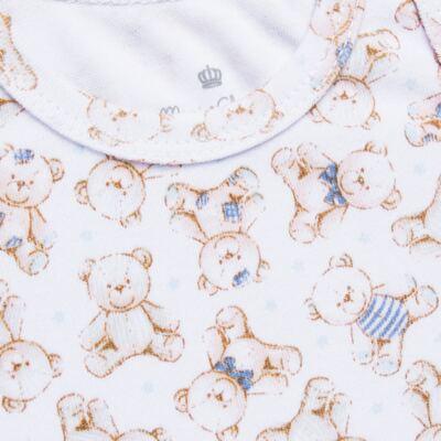 Imagem 2 do produto Body regata para bebe em algodão egípcio c/ jato de cerâmica Prince Bear - Mini & Classic - BDR656 BODY REGATA SUEDINE URSO-RN