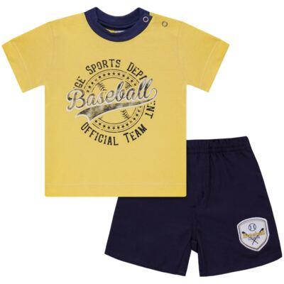 Imagem 1 do produto Camiseta com Shorts em tactel Baseball - Vicky Lipe - 9451367 CAMISETA MC C/ SHORTS TACTEL SPORT 2-3