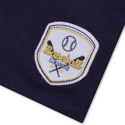 Imagem 5 do produto Camiseta com Shorts em tactel Baseball - Vicky Lipe - 9451367 CAMISETA MC C/ SHORTS TACTEL SPORT 2-GG