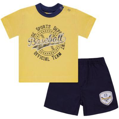 Imagem 1 do produto Camiseta com Shorts em tactel Baseball - Vicky Lipe - 9451367 CAMISETA MC C/ SHORTS TACTEL SPORT 2-G