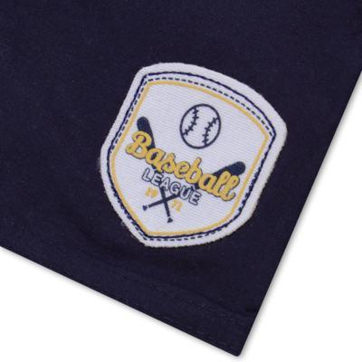 Imagem 5 do produto Camiseta com Shorts em tactel Baseball - Vicky Lipe - 9451367 CAMISETA MC C/ SHORTS TACTEL SPORT 2-G