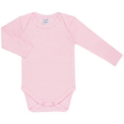 Imagem 2 do produto Pack 2 Bodies longos para bebe Sleep Comfort Branco/Rosa - Vicky Lipe - 10140001.30 PACK 2 BODIES M/L TRANSPASSADO - SUEDINE-G