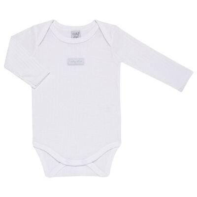 Imagem 3 do produto Pack 2 Bodies longos para bebe Sleep Comfort Branco/Rosa - Vicky Lipe - 10140001.30 PACK 2 BODIES M/L TRANSPASSADO - SUEDINE-G