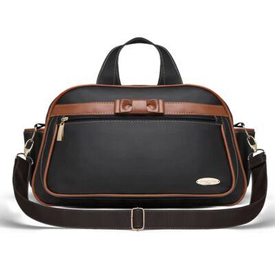 Imagem 3 do produto Kit Mala Maternidade para bebe + Bolsa Viagem Oxford Laço Caramel Preto - Classic for Baby Bags