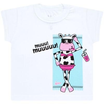 Imagem 2 do produto Conjunto de banho Vaquinha: Maiô + Camiseta - Cara de Criança - KIT1-1260: MB1260 MAIO + CCA1260 CAMISETA VAQUINHA-3