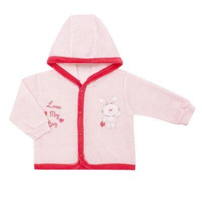 Imagem 2 do produto Casaco com capuz e Calça para bebe em plush Petit Lapin - Vicky Lipe - 938944 CONJ. BLUSAO C/ CAPUZ E CALCA PLUSH COELHA-GG