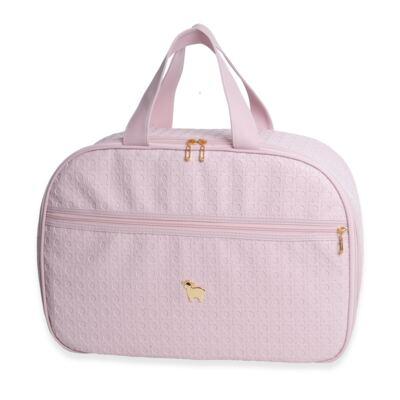 Imagem 2 do produto Mala maternidade para bebe + Bolsa maternidade + Frasqueira térmica + Porta Mamadeira + Trocador portátil Tressê Rosa - Majov