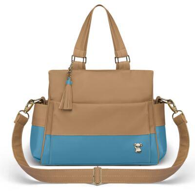 Imagem 2 do produto Bolsa maternidade para bebe Genebra + Frasqueira Térmica Zurique Due Colore Turquesa - Classic for Baby Bags