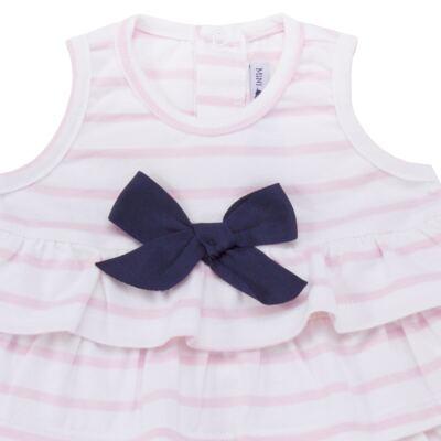 Imagem 2 do produto Body Vestido para bebe em suedine Lolita - Mini Sailor - 01224441 BODY VESTIDO C/LACOS SUEDINE ROSA BEBE-3-6