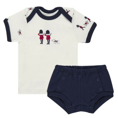 Imagem 1 do produto Camiseta com Cobre Fralda em algodão egípcio Royal Guard - Bibe - 39G80-G93 CJ CUR M CM+TP BY BIBE-M