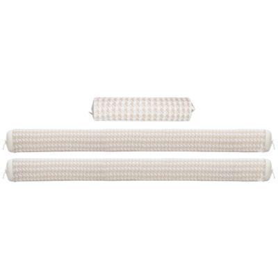 Imagem 1 do produto Kit Berço: Rolinhos Laterais + Rolinho Cabeceira em tricot Pied Poule - Petit