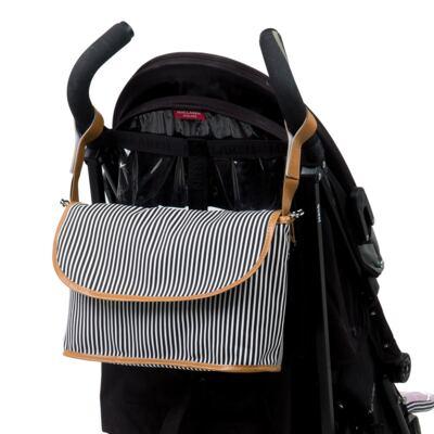 Imagem 5 do produto Mala maternidade Vintage + Bolsa Everyday + Frasqueira Organizadora Manhattan Preta - Masterbag