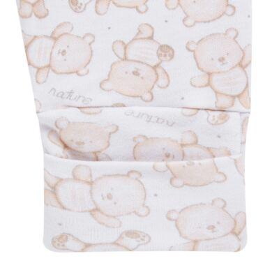Imagem 3 do produto Pack 2 mijões com pé reversível para bebe em algodão egípcio c/ jato de cerâmica Nature Little Friends - Mini & Classic - 1025650 PACK 2 MIJOES PE REVERSIVEL SUEDINE NATURE-P